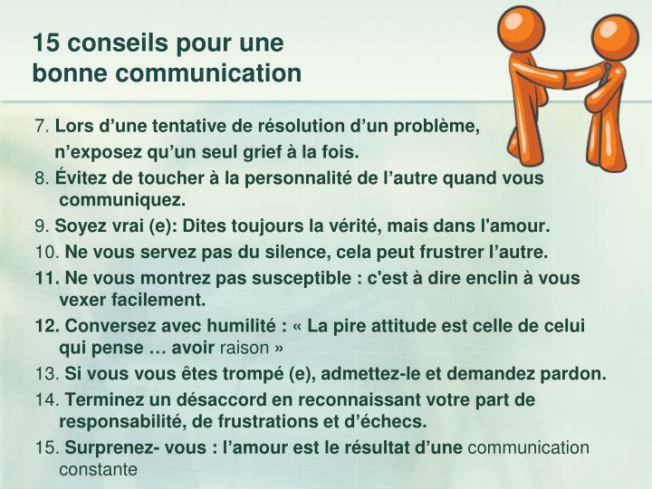 15 conseils pour une bonne communication