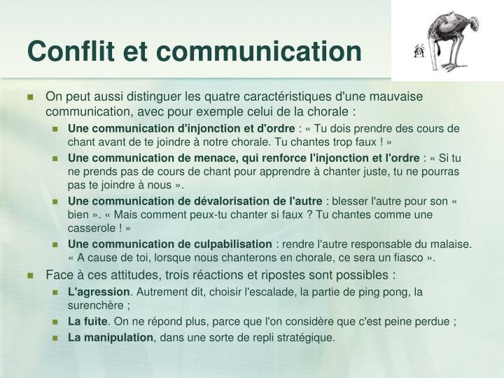 Conflit et communication
