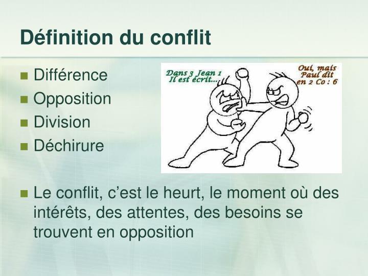 Définition du conflit