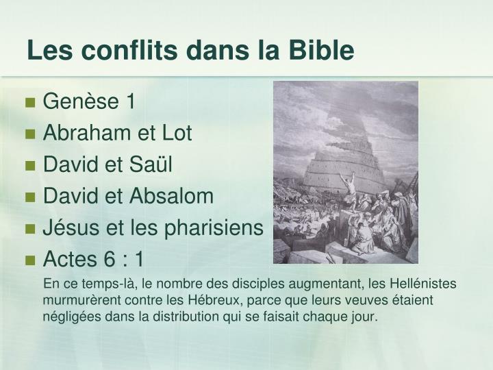 Les conflits dans la Bible