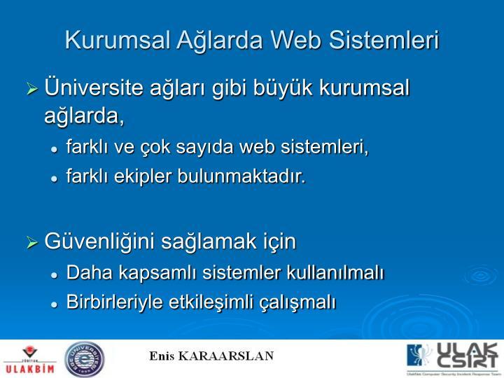 Kurumsal Ağlarda Web Sistemleri