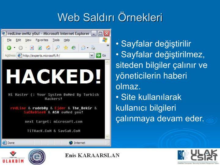 Web Saldırı Örnekleri