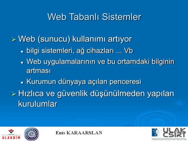 Web Tabanlı Sistemler