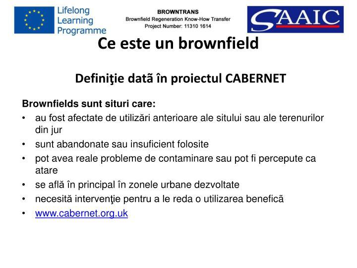 Ce este un brownfield