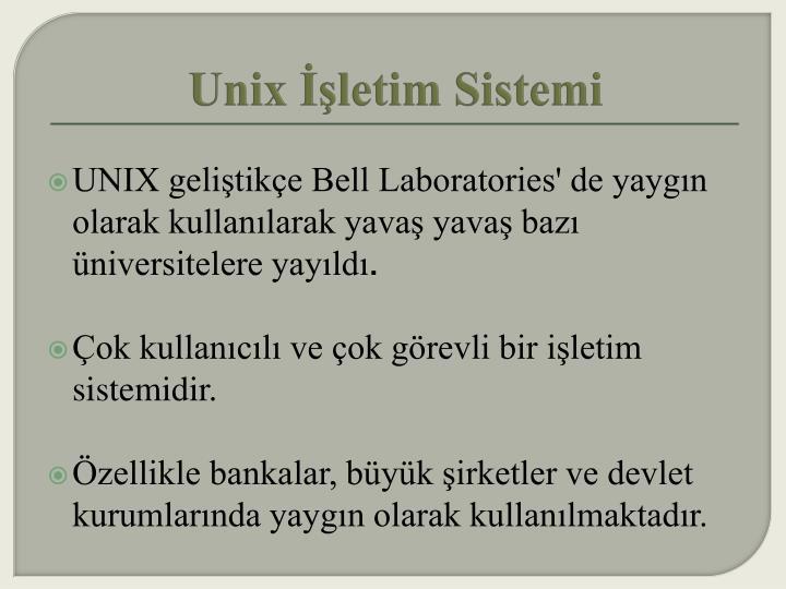 Unix İşletim Sistemi