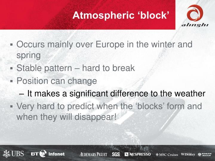 Atmospheric 'block'