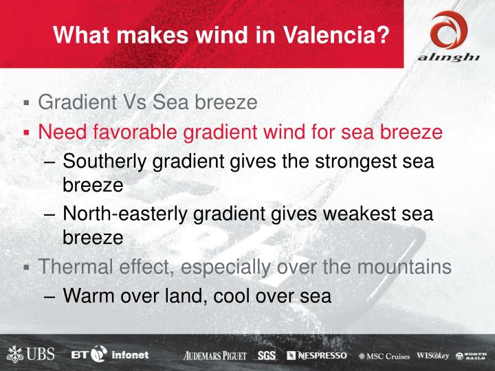 What makes wind in Valencia?