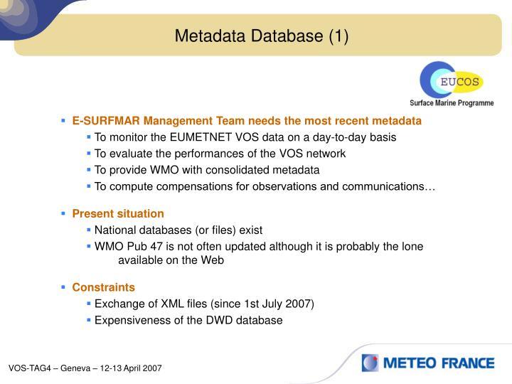Metadata Database (1)