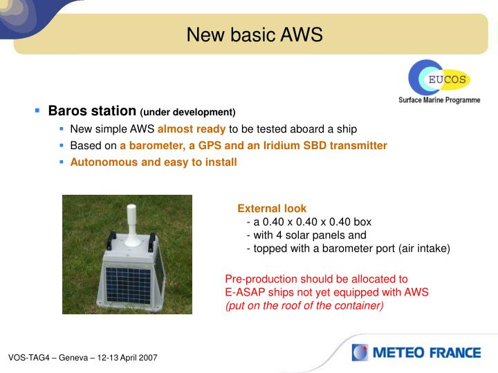 New basic AWS