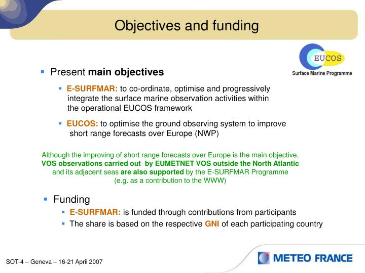 Objectives and funding