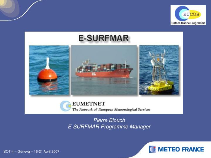 Pierre blouch e surfmar programme manager