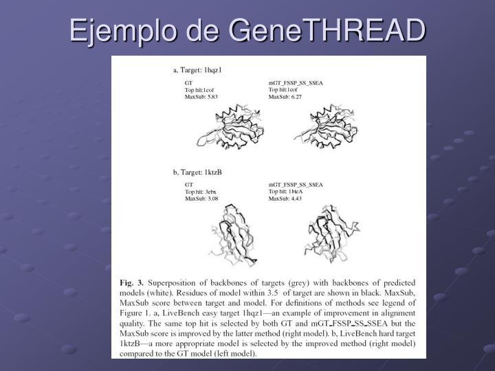 Ejemplo de GeneTHREAD