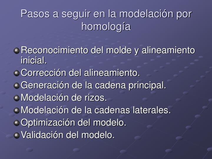 Pasos a seguir en la modelación por homología