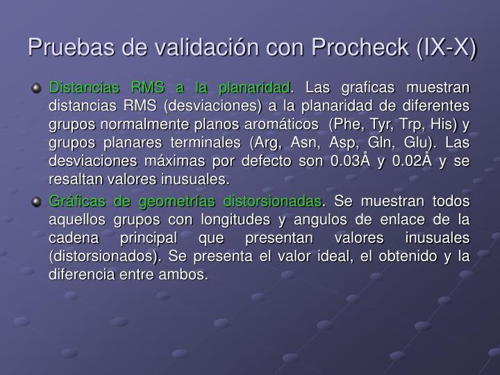 Pruebas de validación con Procheck (IX-X)