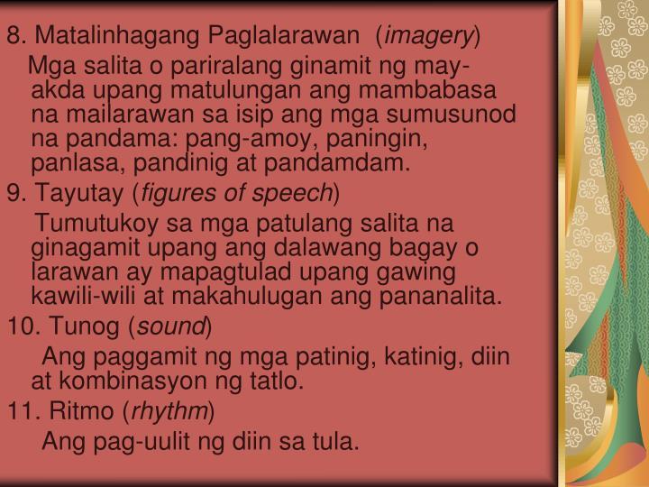 mga artikulong pampanitikang mayaman sa tayutay