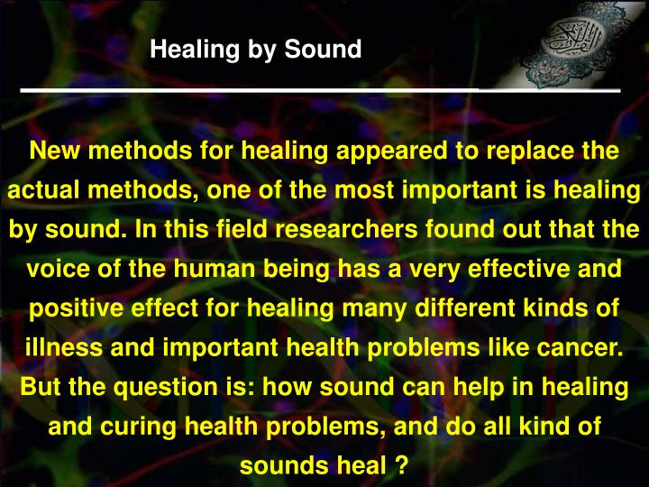 Healing by Sound