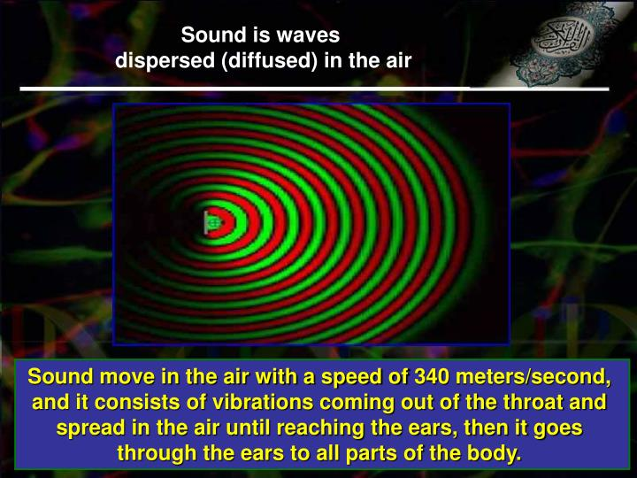 Sound is waves