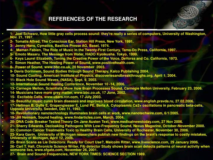 REFERENCES OF THE RESEARCH