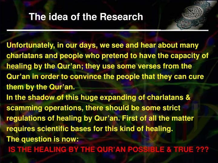 The idea of the Research