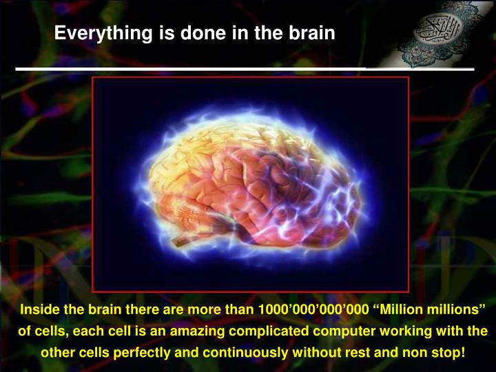 Everything is done in the brain