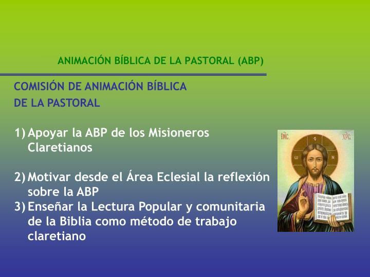 COMISIÓN DE ANIMACIÓN BÍBLICA