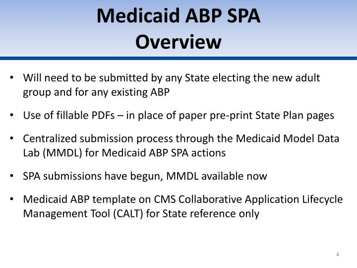 Medicaid ABP SPA