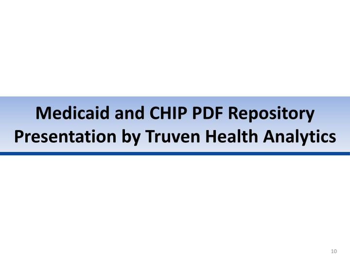 Medicaid and CHIP PDF Repository