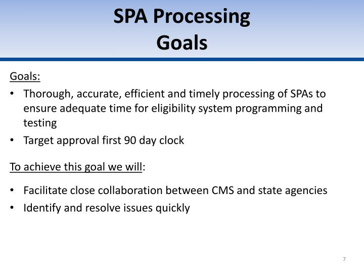 SPA Processing