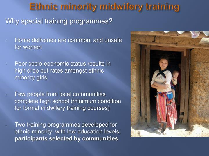 Ethnic minority midwifery training