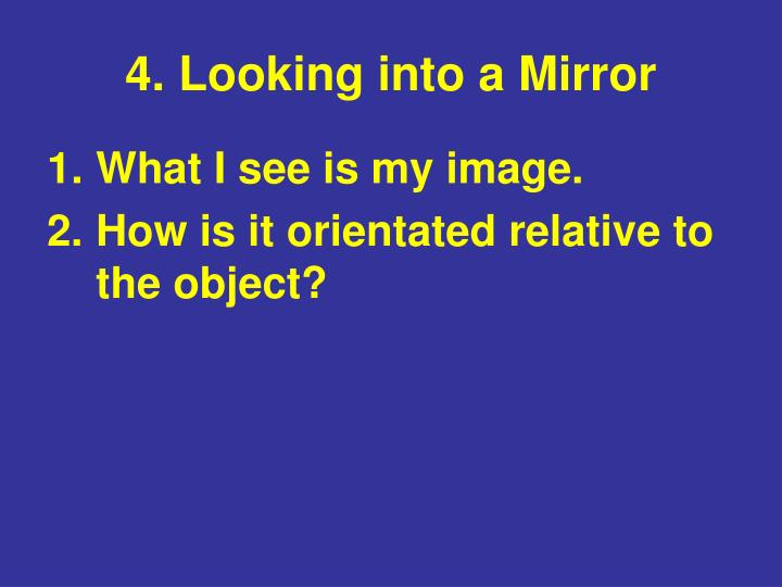 4. Looking into a Mirror
