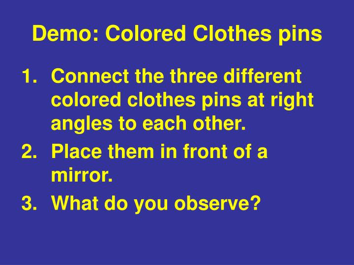 Demo: Colored Clothes pins