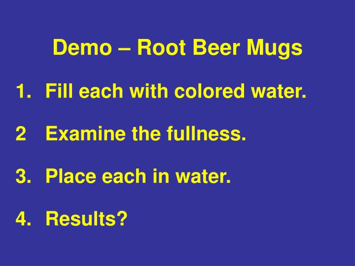 Demo – Root Beer Mugs