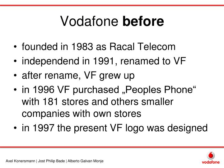 Vodafone before