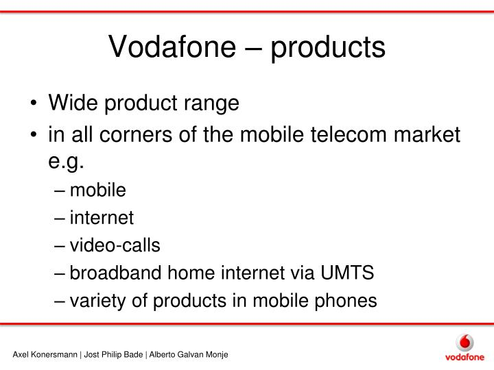 Vodafone – products