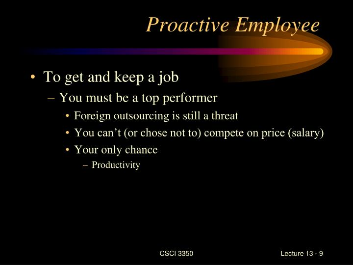 Proactive Employee