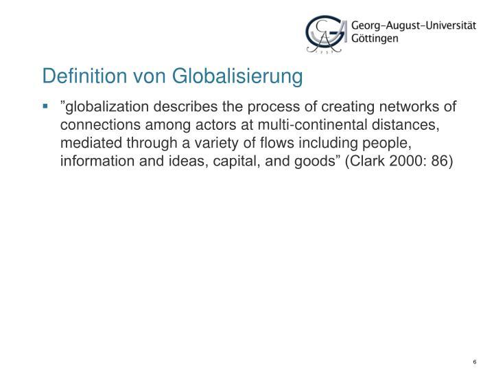 Definition von Globalisierung