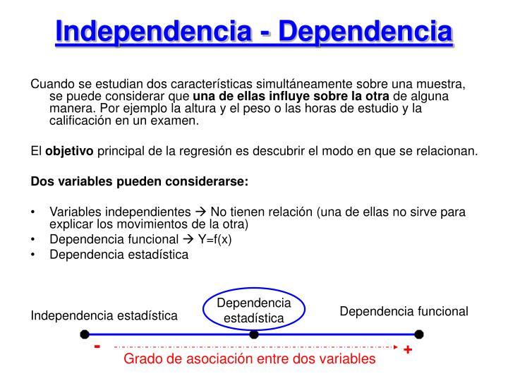 Independencia - Dependencia
