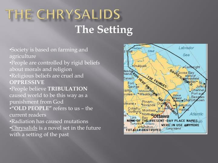 the chrysalids sealand The chrysalids: study questions chapters 13 - 17 the sealand woman speaks about the fringes people being condemned to a life of squalor and misery.