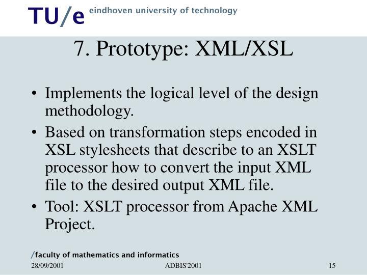 7. Prototype: XML/XSL