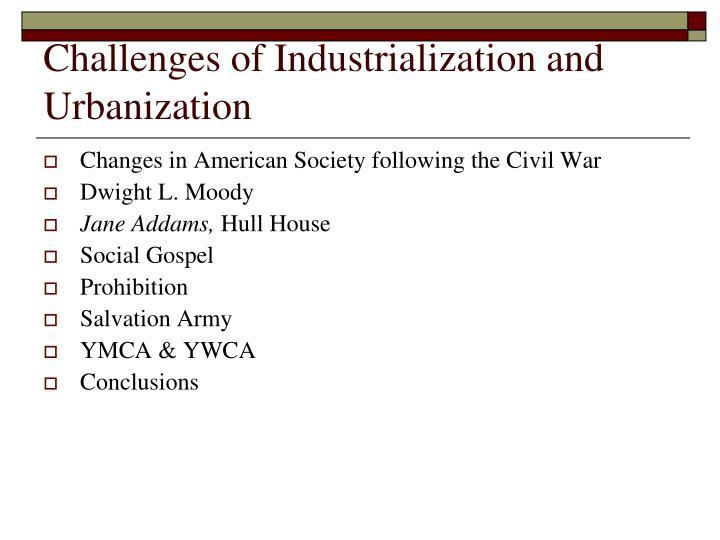 industrialization and urbanization relationship goals