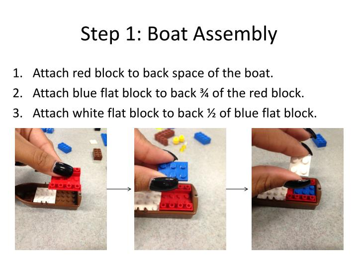 Step 1 boat assembly