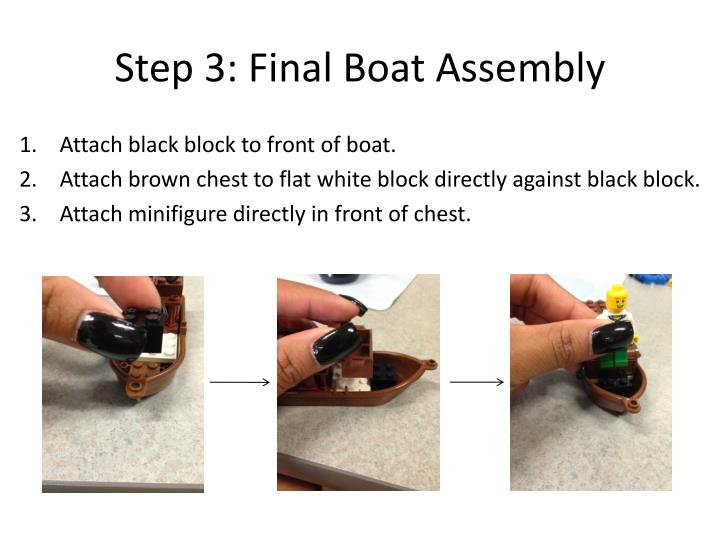 Step 3: Final Boat Assembly
