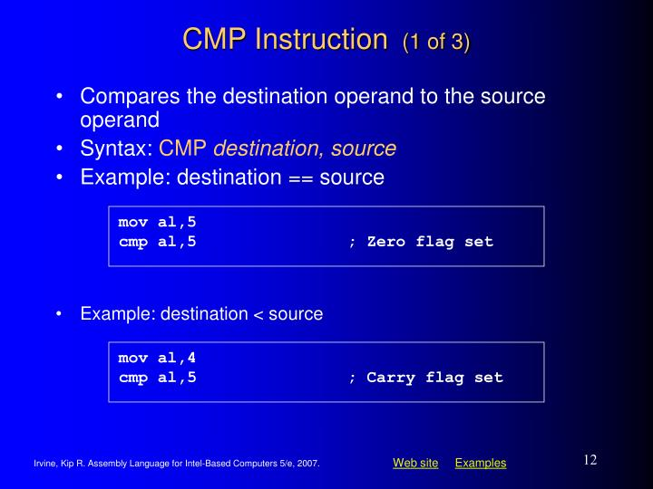 Example: destination < source