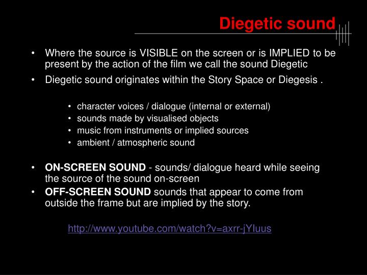 Diegetic sound