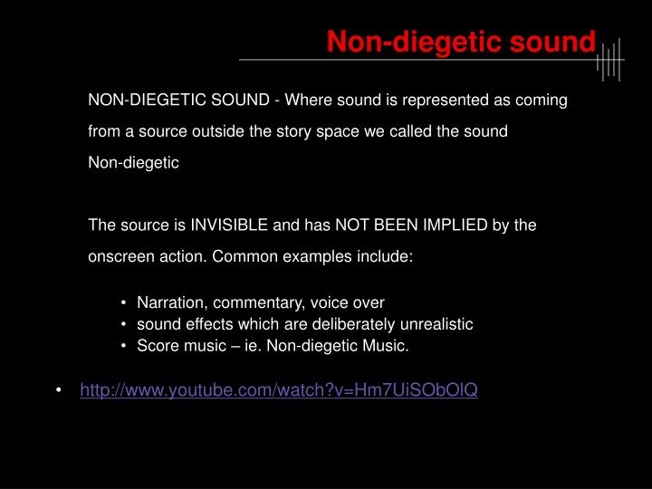 Non-diegetic sound