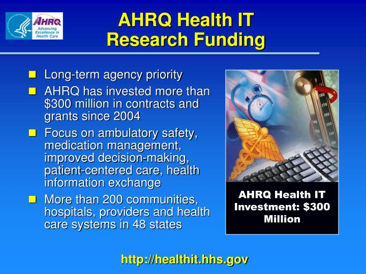 AHRQ Health IT                   Research Funding