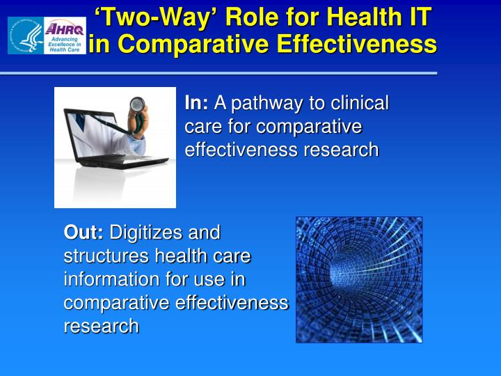 'Two-Way' Role for Health IT                  in Comparative Effectiveness