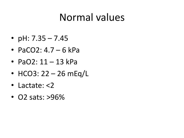 Normal values