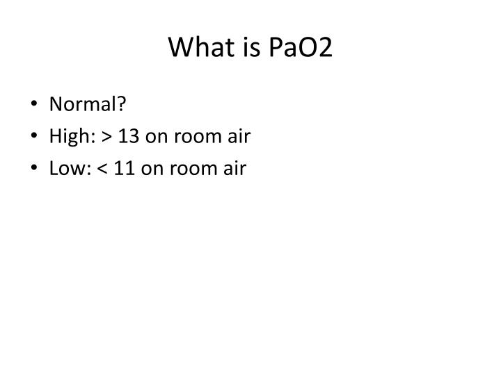 What is PaO2