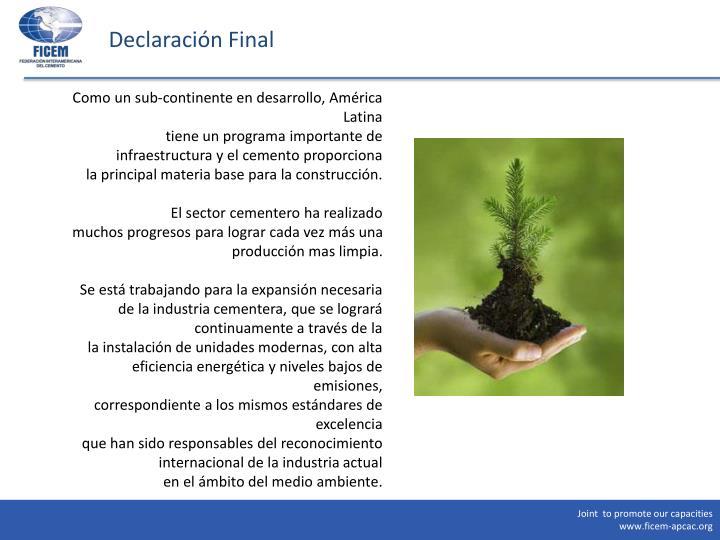 Declaración Final